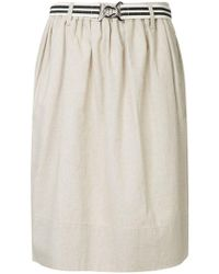 Bassike - Belted Draped Midi Skirt - Lyst