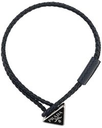 Prada ロゴプレート ブレスレット - ブラック