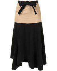 Alexis Camila Belted Skirt - Black