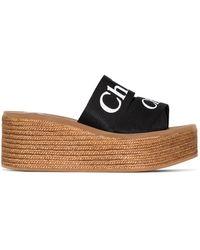 Chloé Woody 70 ウェッジサンダル - ブラウン