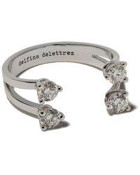 Delfina Delettrez 'Dots' Diamantring - Mettallic
