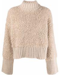 The Attico Chunky-knit Oversized Jumper - Multicolour