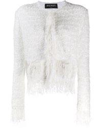 Balmain Tweed Jas - Wit