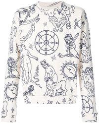 The Elder Statesman - Printed Sweatshirt - Lyst