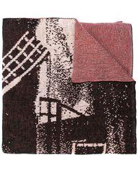 Bernhard Willhelm Windmill Scarf - Red