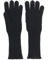 Cruciani Knitted Gloves - Black