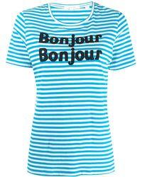 Chinti & Parker Bonjour Tシャツ - ブルー