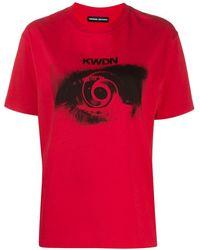Kwaidan Editions Vertigo プリント Tシャツ - レッド