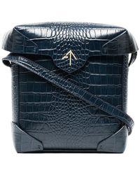 MANU Atelier - Navy Mini Pristine Crossbody Bag - Lyst