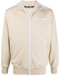 Palm Angels Logo-print Track Jacket - Natural