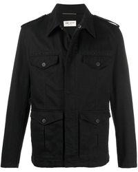 Saint Laurent Декорированная Куртка - Черный