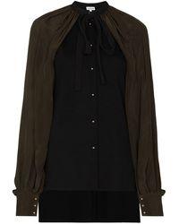Loewe Billowing Cape-sleeve Top - Black