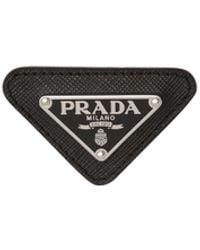 Prada ロゴ ピンバッジ - ブラック