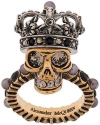 Alexander McQueen - King Skull リング - Lyst