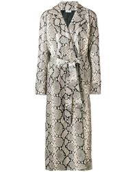 Attico - Snakeskin-effect Trench Coat - Lyst