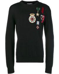 Dolce & Gabbana - Pull à broderies - Lyst
