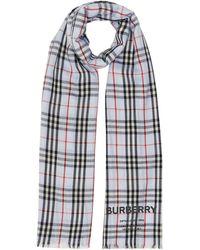Burberry - チェック カシミアストール - Lyst