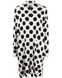 AMI ポルカドット シャツドレス - ブラック