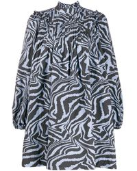 Ganni - タイガープリント ドレス - Lyst