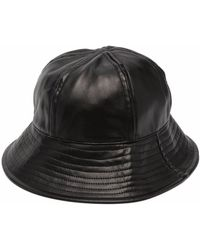 Song For The Mute Faux-leather Bucket Hat - Black