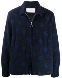 Reception Embroidered Zip-through Fleece - Blue