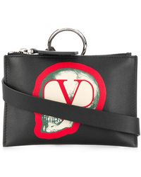 Valentino Garavani X Undercover Valentino Garavani Go Skull Pouch - Black