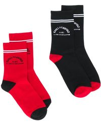 Karl Lagerfeld Комплект Из Двух Пар Носков С Логотипом - Красный