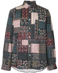 Public School - Camisa ajustada con diseño patchwork - Lyst