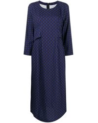 Comme des Garçons ジオメトリックパターン ロングドレス - ブルー