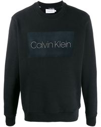 Calvin Klein Trui Met Logoprint - Zwart