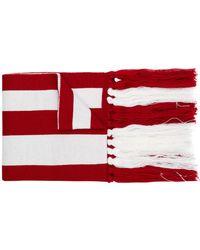 Gcds Logo Stripe Sjaal - Rood