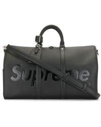 Louis Vuitton X Supreme 2017 Pre-owned Epi Keepall Bandouliere Travel Bag - Black