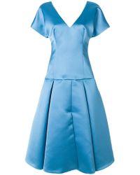 Sara Battaglia - Flared Dress - Lyst