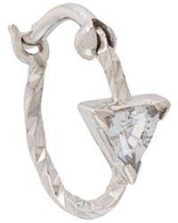 Maria Black Pendiente Diamond Cut Viper - Metálico