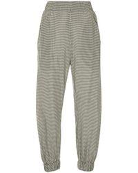 Zero + Maria Cornejo - Gingham-print Trousers - Lyst