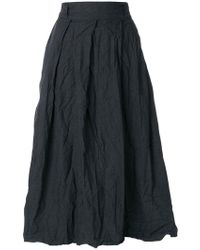 Daniela Gregis - Creased High-waisted Skirt - Lyst