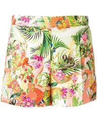 Piccione.piccione - Tropical Print Shorts - Lyst