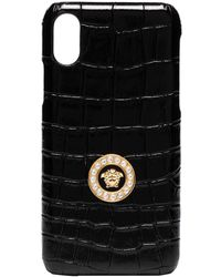 Versace Medusa Logo Iphone X Css Case - Black