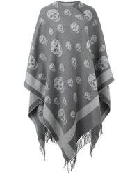Alexander McQueen Skull Knit Kaftan - Gray