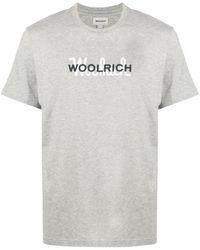 Woolrich ロゴ Tシャツ - グレー