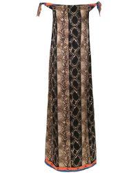 Amir Slama Off The Shoulder Long Dress - Коричневый