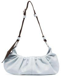 Ganni Ruched Crossbody Bag - Blue