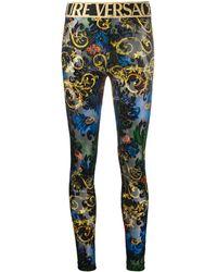 Versace Jeans Couture Leggings Barocco con stampa - Nero