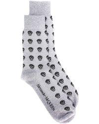 Alexander McQueen Жаккардовые Носки С Узором Skull - Многоцветный