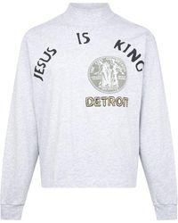 Giuseppe Zanotti 'jesus Is King' Detroit Seal Long-sleeve T-shirt - Grey