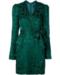 Saloni Платье Bibi - Зеленый