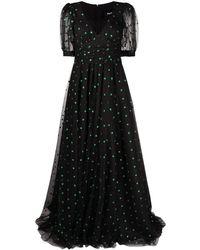 Parlor ポルカドット イブニングドレス - ブラック