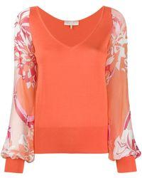 Emilio Pucci Floral sleeve top - Multicolore