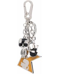 Karl Lagerfeld K/studio Charm Keychain - Metallic