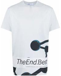 Affix プリント Tシャツ - ブルー